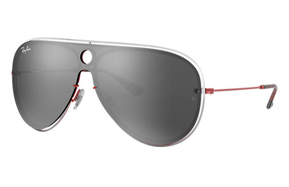 Ray-Ban 0RB3605N-RB3605N Silber,Rot; Rot SUN