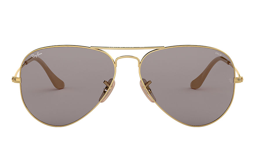 Ray-Ban  sonnenbrillen RB3025 UNISEX 004 aviator washed evolve gold 8053672926224