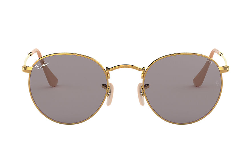 Ray-Ban  sunglasses RB3447 UNISEX 004 round washed evolve gold 8053672926330
