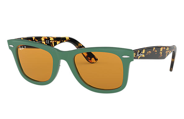 Ray-Ban Sunglasses WAYFARER POP Green with Yellow Classic lens