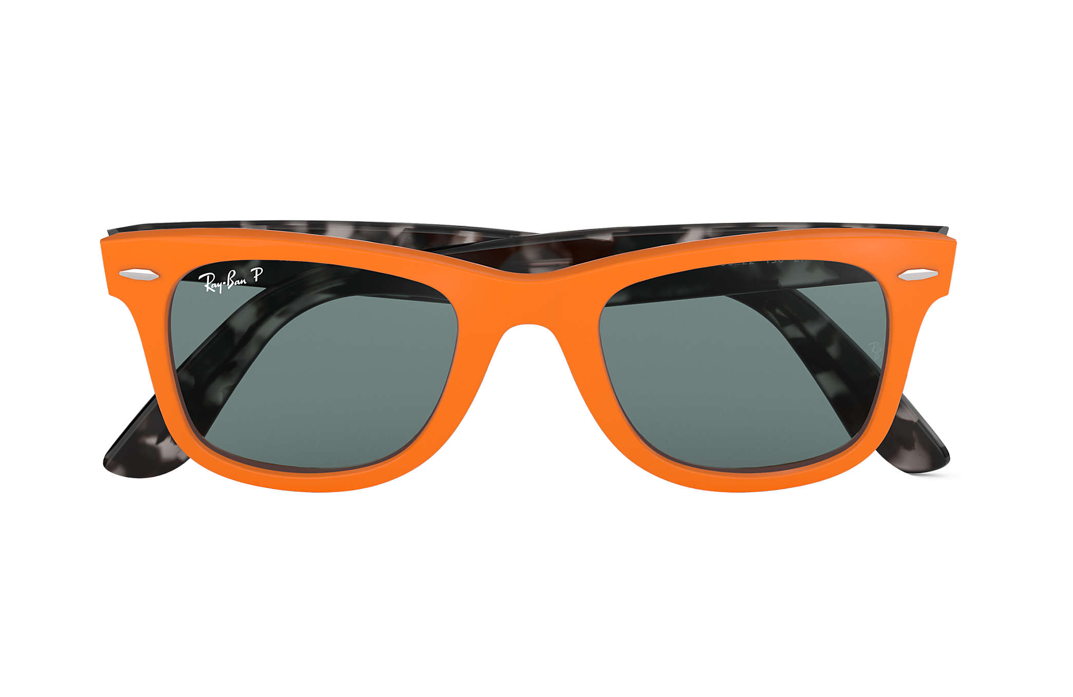 62771d5a59 Ray-Ban Wayfarer Pop RB2140 Orange - Acetate - Grey Polarized Lenses ...