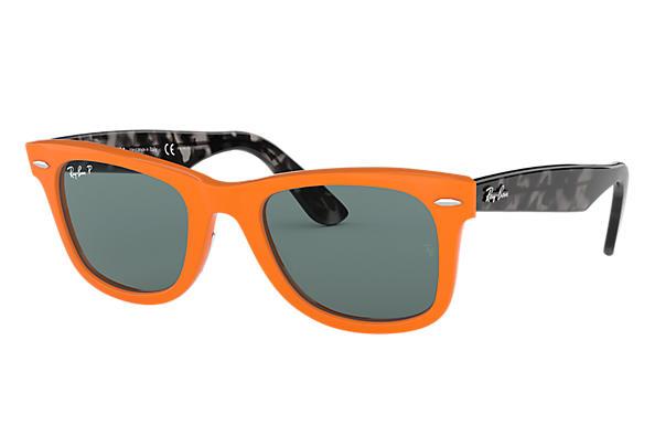 6ed82daa2e Ray-Ban Wayfarer Pop RB2140 Orange - Acetate - Grey Polarized Lenses ...