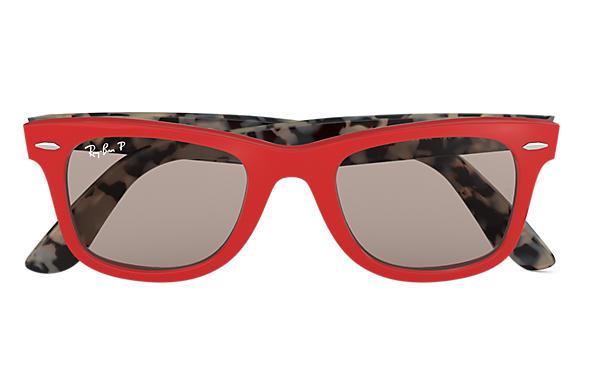 etui lunettes ray ban rouge