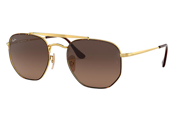 66d6c07dde4 Ray-Ban Marshal RB3648 Gold - Metal - Green Lenses - 0RB364800154 ...