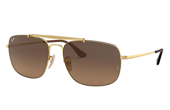 ca291b139cb32c Ray-Ban Colonel RB3560 Gold - Steel - Green Lenses - 0RB356000158 ...