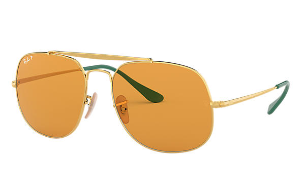 Ray-Ban Sunglasses GENERAL POP Gold with Yellow Classic lens