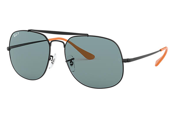 54d64dc67c Ray-Ban General Pop RB3561 Black - Metal - Grey Polarized Lenses ...