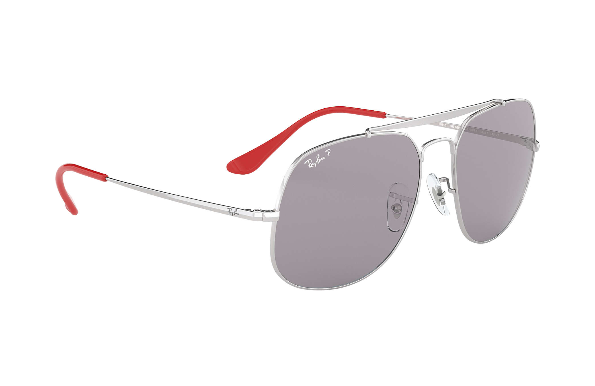 b549946882 Ray-Ban General Pop RB3561 Silver - Metal - Grey Polarized Lenses ...