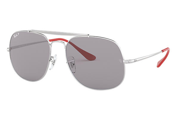 Ray-Ban Sunglasses GENERAL POP Silver with Grey Classic lens