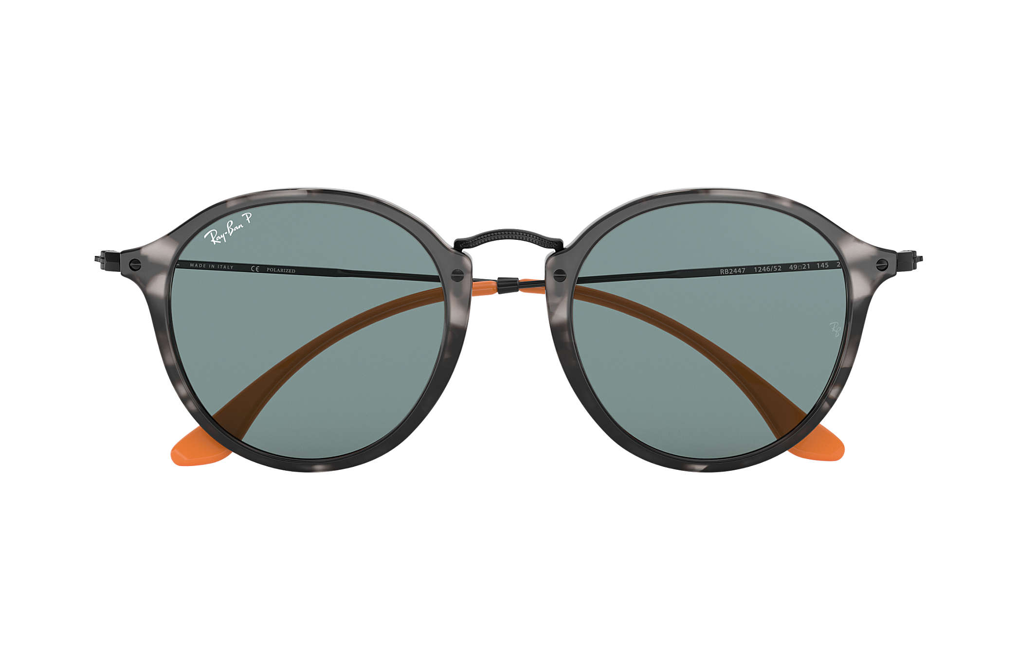 1eccc79df Ray-Ban Round Fleck Pop RB2447 Tortoise - Acetate - Grey Polarized ...