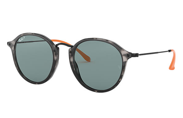 Ray-Ban Sunglasses ROUND FLECK POP Tortoise with Grey Classic lens