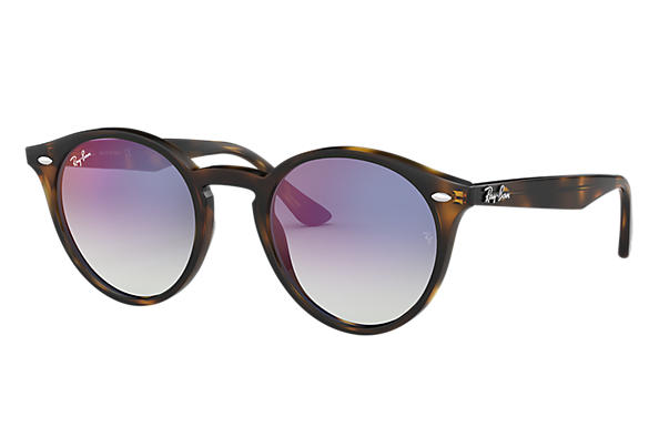 Ray-Ban Sunglasses RB2180 Gloss Tortoise with Blue Gradient Mirror lens