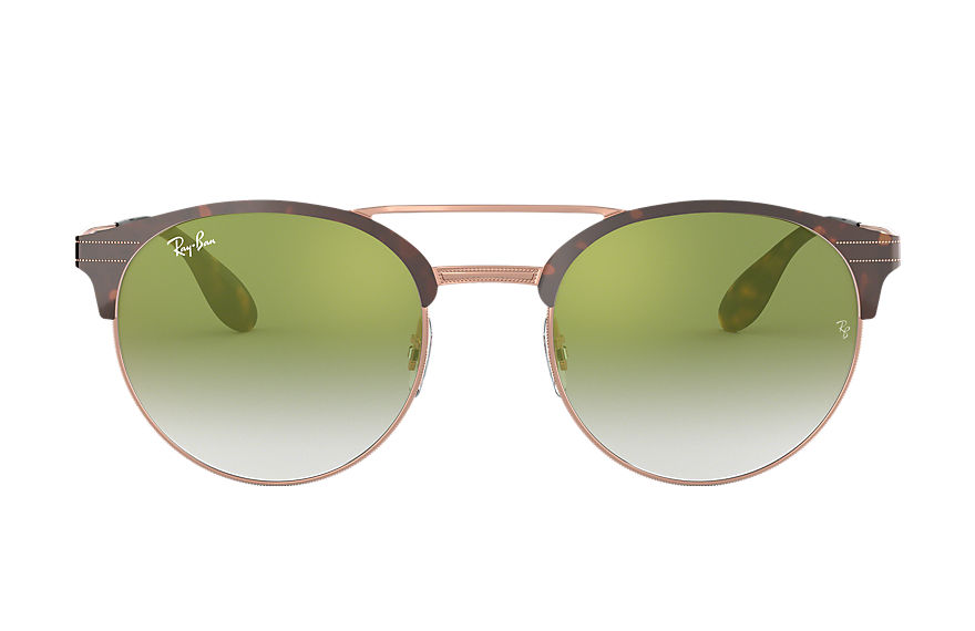 Ray-Ban Sunglasses RB3545 Tortoise with Green Gradient Mirror lens