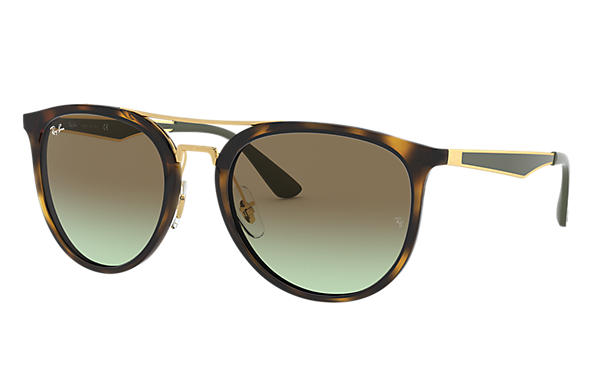 Ray-Ban 0RB4285-RB4285 Tortoise; Green SUN