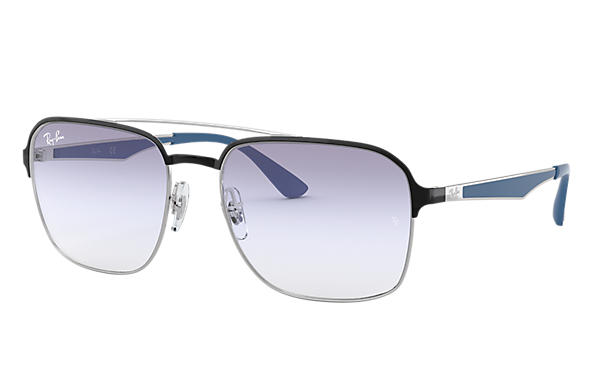Ray-Ban 0RB3570-RB3570 Nero,Argento; Argento,Blu SUN
