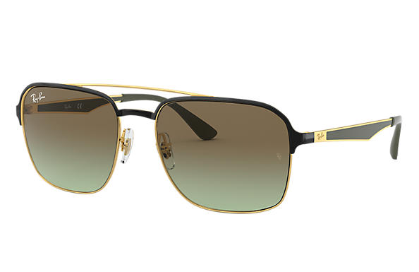Ray-Ban 0RB3570-RB3570 Black,Gold; Gunmetal,Green SUN