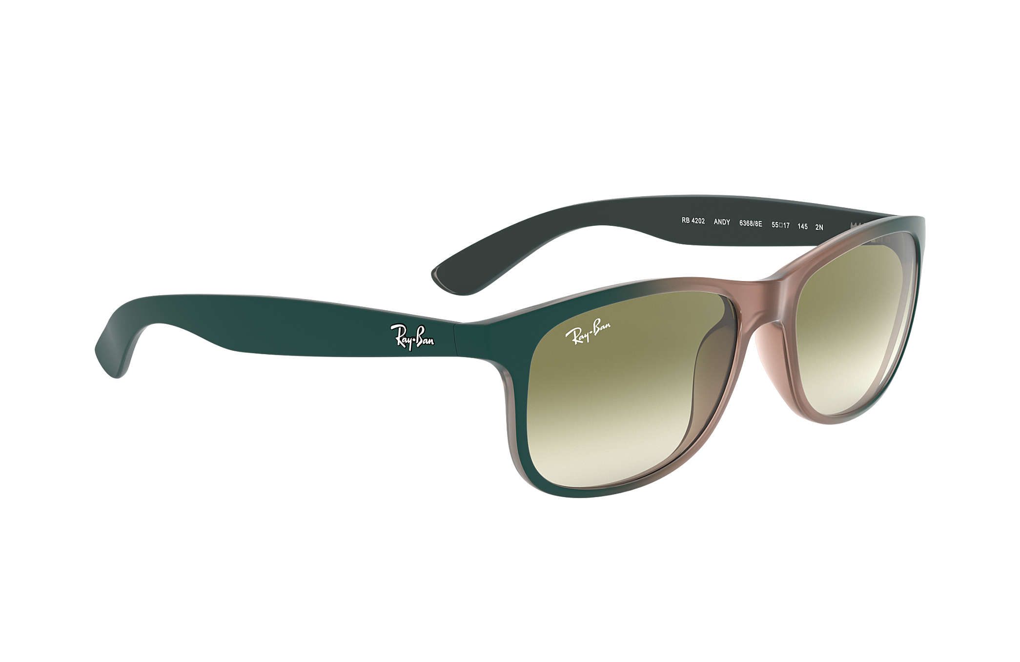 1705c9a81e787 Ray-Ban Andy RB4202 Light Brown - Nylon - Green Lenses ...