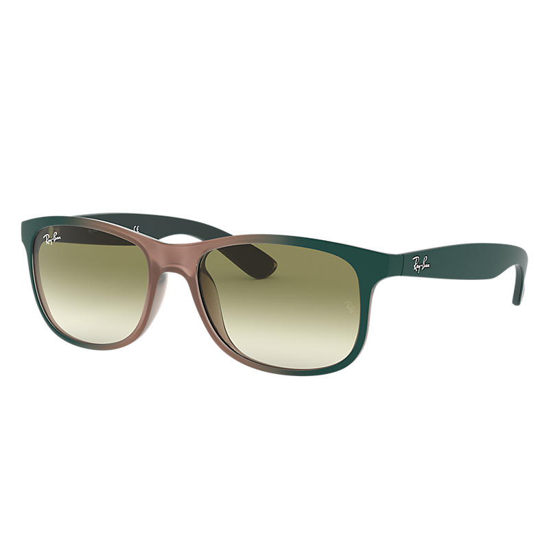 Image of Ray-Ban Andy Green Sunglasses, Green Sunglasses Lenses - Rb4202