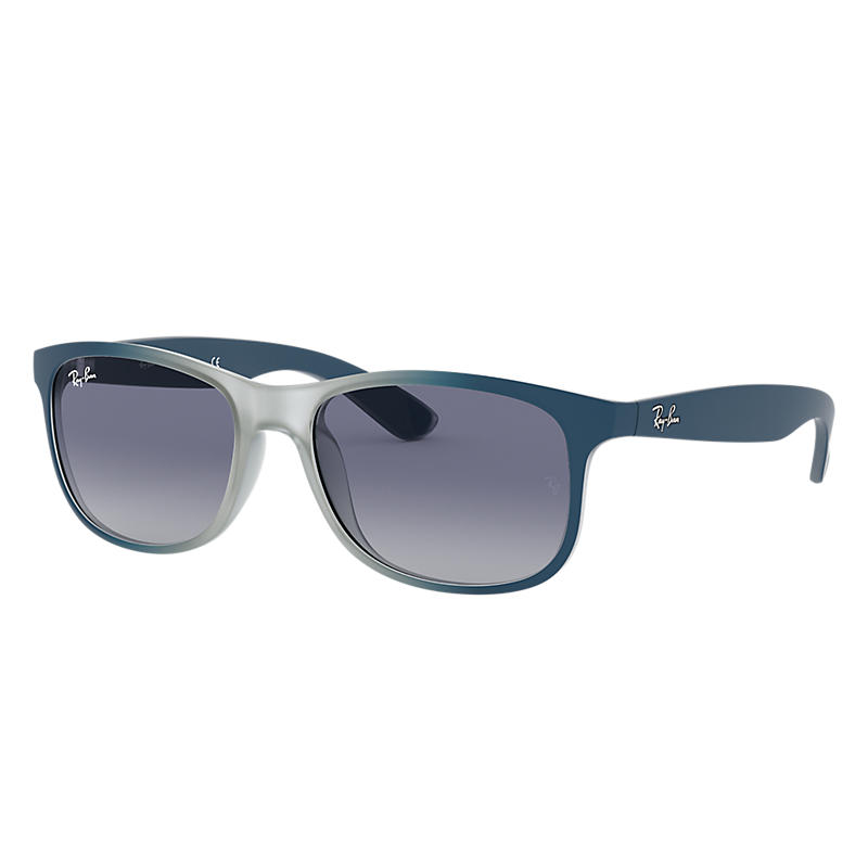 Image of Ray-Ban Andy Blue Sunglasses, Blue Sunglasses Lenses - Rb4202