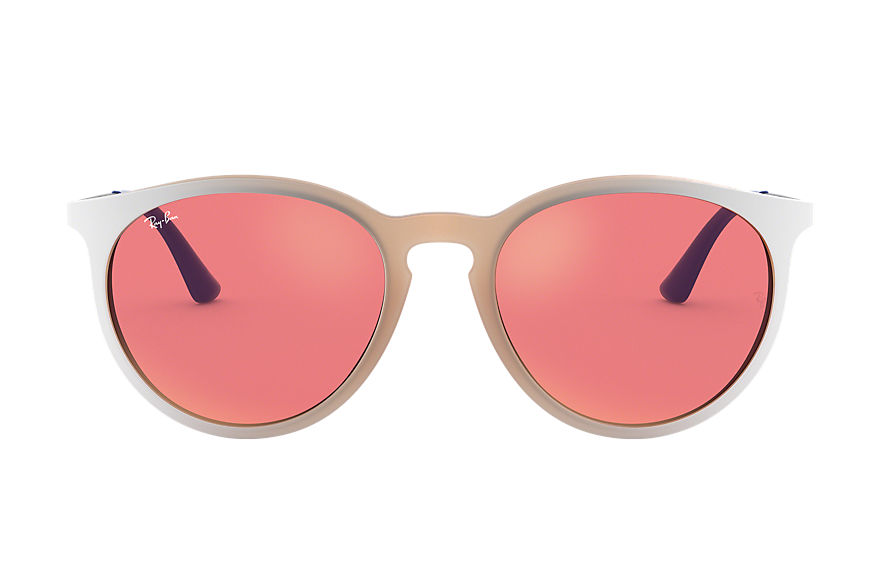 Ray-Ban Sunglasses RB4274 Pink with Red Classic lens