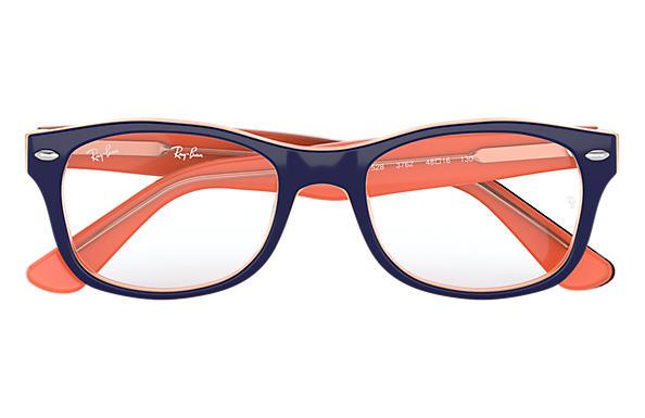 ray ban bleu et orange