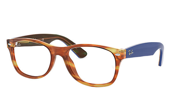 Ray-Ban 0RX5184-New Wayfarer Optics Havana; Blau OPTICAL