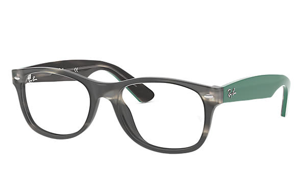 Ray-Ban 0RX5184-New Wayfarer Optics Tortoise; Green OPTICAL
