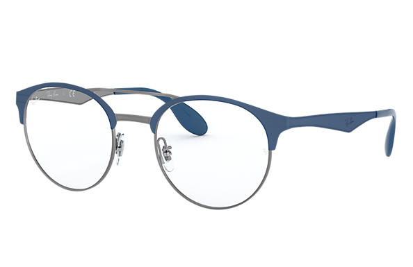 Ray-Ban 0RX3545V-RB3545V Blu,Canna di fucile OPTICAL