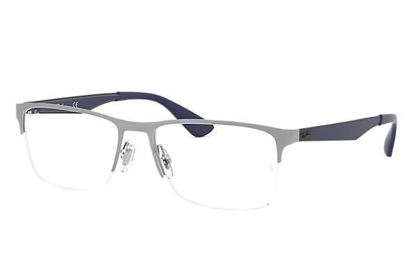 579b7eb7a7 Ray-Ban prescription glasses RB6335 Gunmetal - Metal - 0RX6335301254 ...