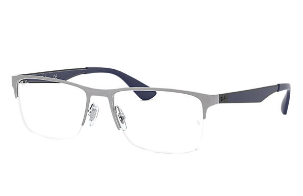 Ray-Ban 0RX6335-RB6335 Gun; Noir,Bleu OPTICAL