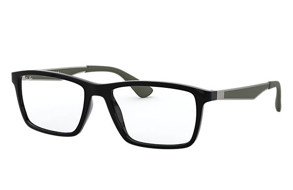 Ray-Ban 0RX7056-RB7056 Black; Gunmetal,Green OPTICAL