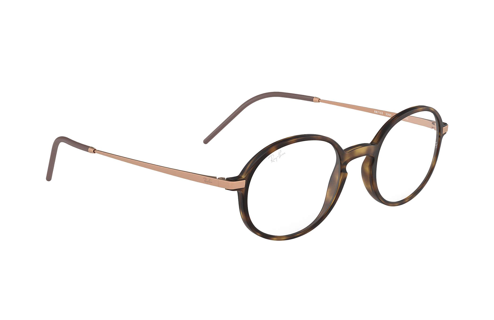 Óculos de grau Ray-Ban RB7153 Tartaruga - Injetado - 0RX7153536552 ... dd845409cc