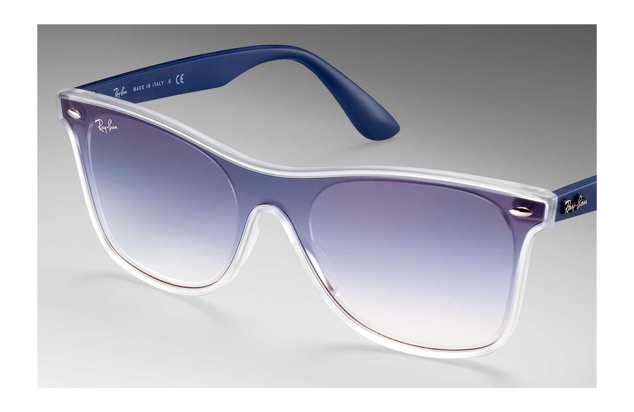 00a688c635 Ray-Ban Blaze Wayfarer RB4440NF Transparent - Nylon - Blue Lenses ...