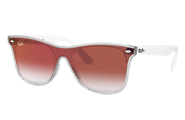 Ray-Ban 0RB4440NF-BLAZE WAYFARER Transparent; Red SUN