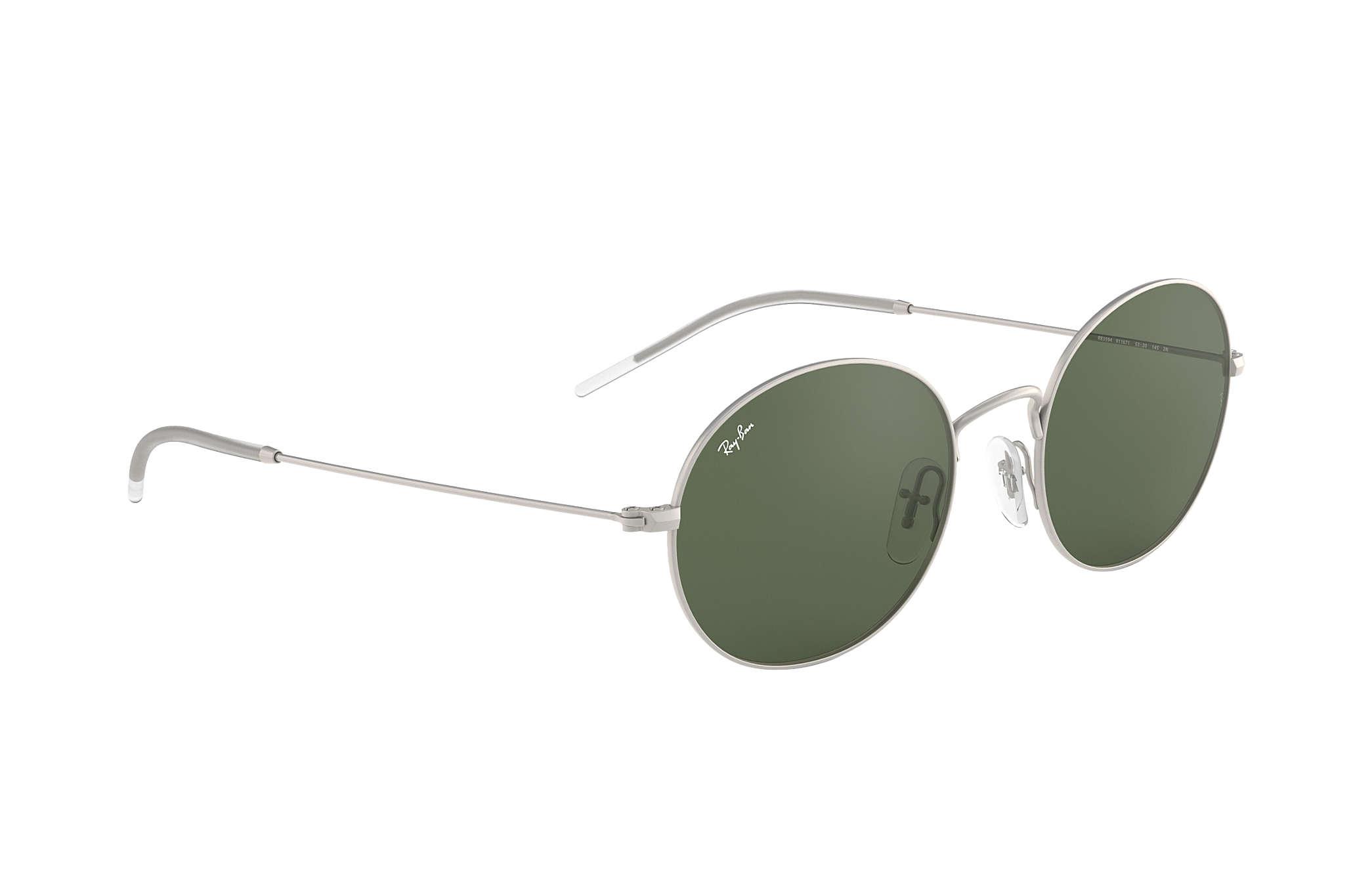 8045d8e0049ca Ray-Ban Ray-ban Beat RB3594 Silver - Metal - Green Lenses ...