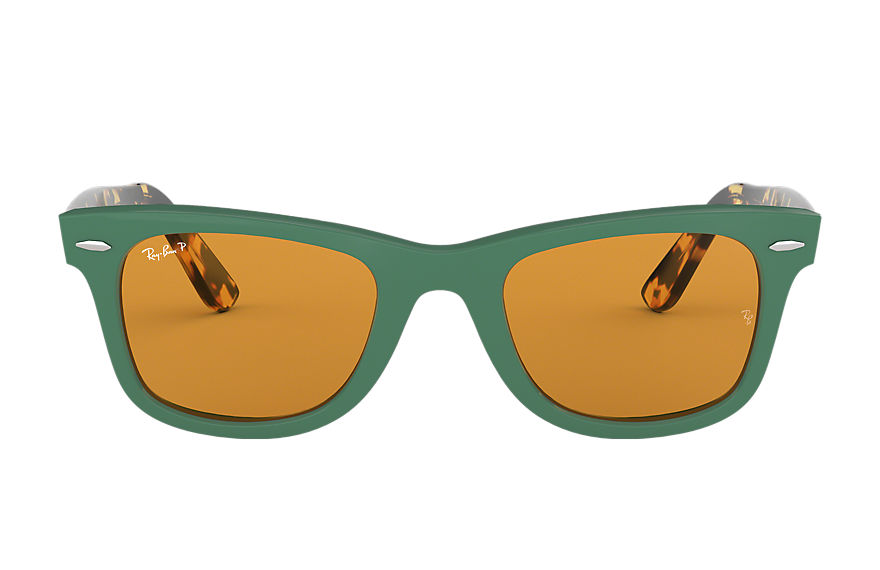 Ray-Ban  sunglasses RB2140F UNISEX 001 wayfarer pop low bridge fit 绿色 8053672930214