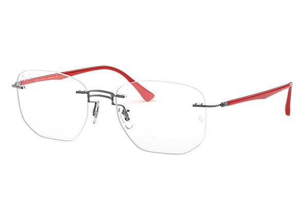 Ray-Ban 0RX8757-RB8757 Gunmetal; Rojo OPTICAL