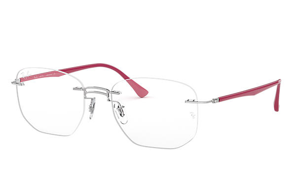 Ray-Ban 0RX8757-RB8757 Silver; Purple-Reddish OPTICAL