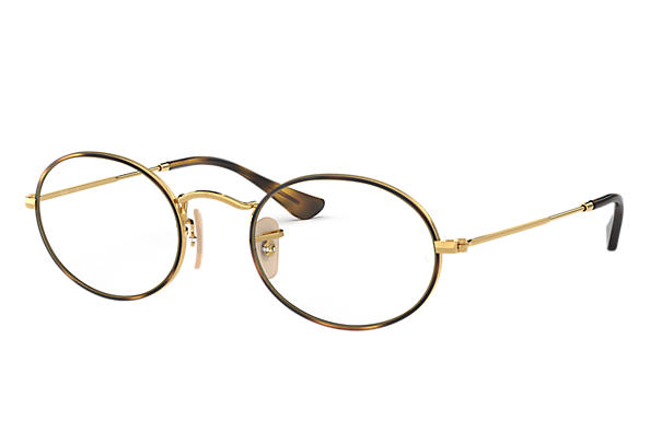 레이밴 Eyeglasses OVAL OPTICS 호피색