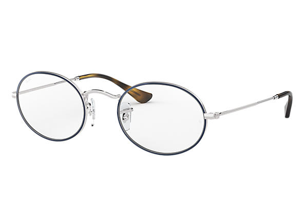Ray-Ban 0RX3547V-OVAL OPTICS Blue,Silver; Silver OPTICAL