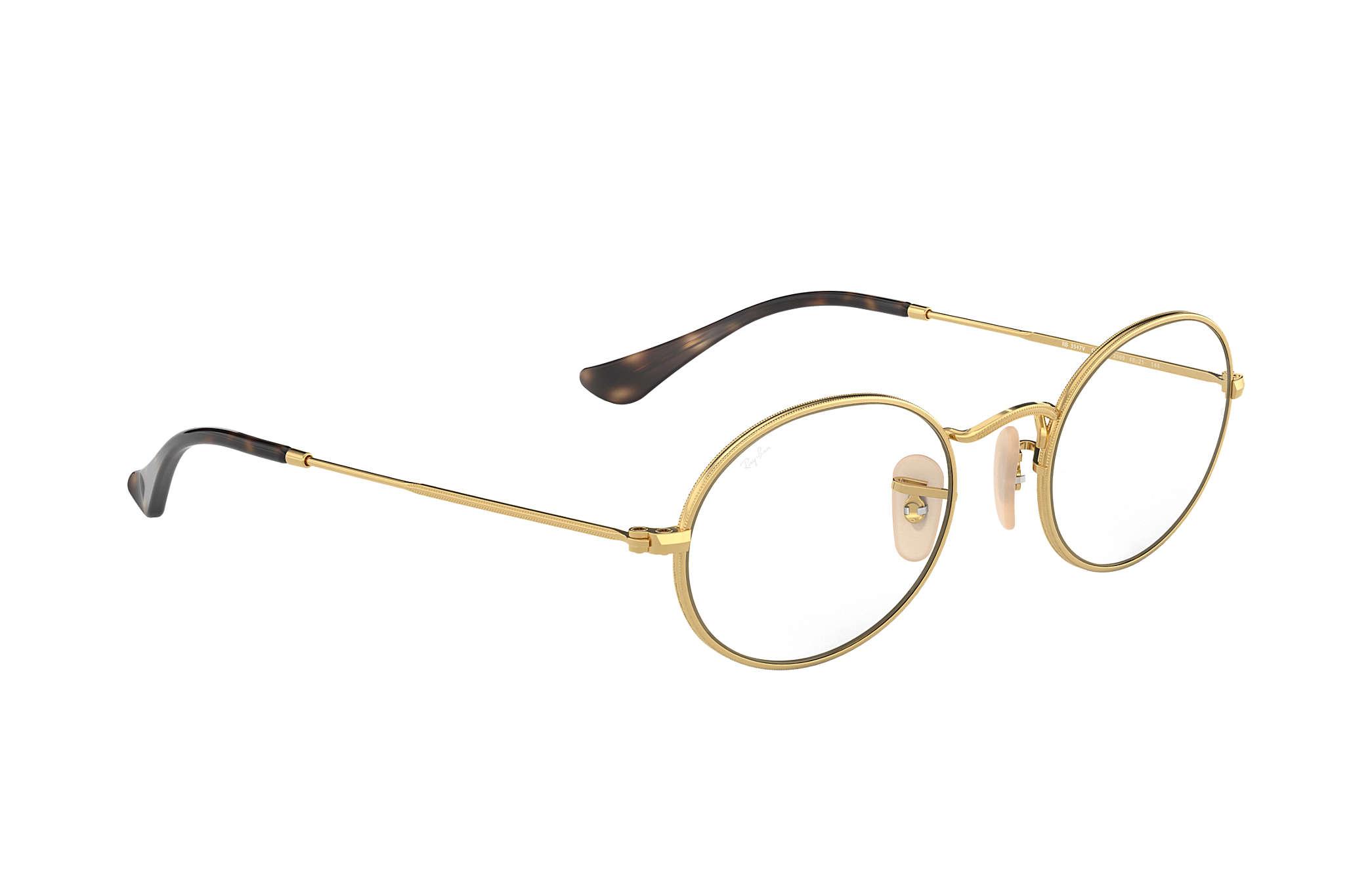 0ee4642fc5 Ray-Ban prescription glasses Oval Optics RB3547V Gold - Metal ...