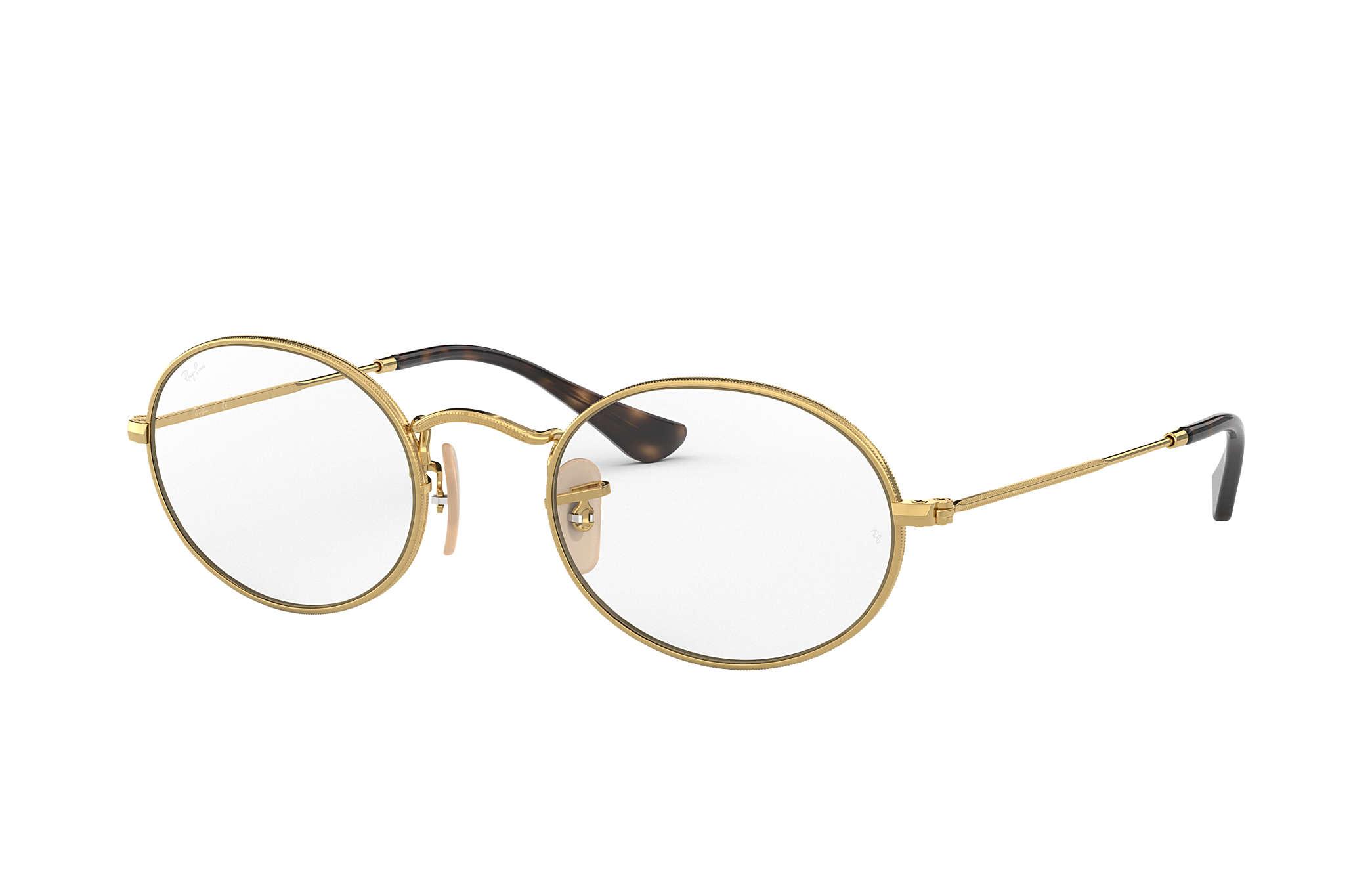 Ray-Ban prescription glasses Oval Optics RB3547V Gold - Metal ... 7910b5c623fc