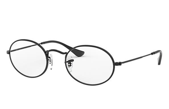 86174a7fd0617 Ray-Ban prescription glasses Oval Optics RB3547V Black - Metal ...
