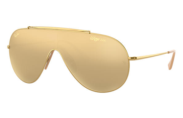 c394a6d0e1 Ray-Ban Golden Wings RB3597K Gold - Metal - Gold Lenses ...