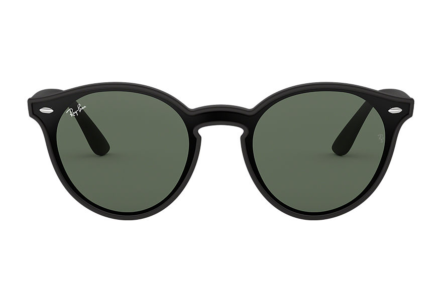 Ray-Ban Sunglasses BLAZE RB4380N Black with Green Classic lens