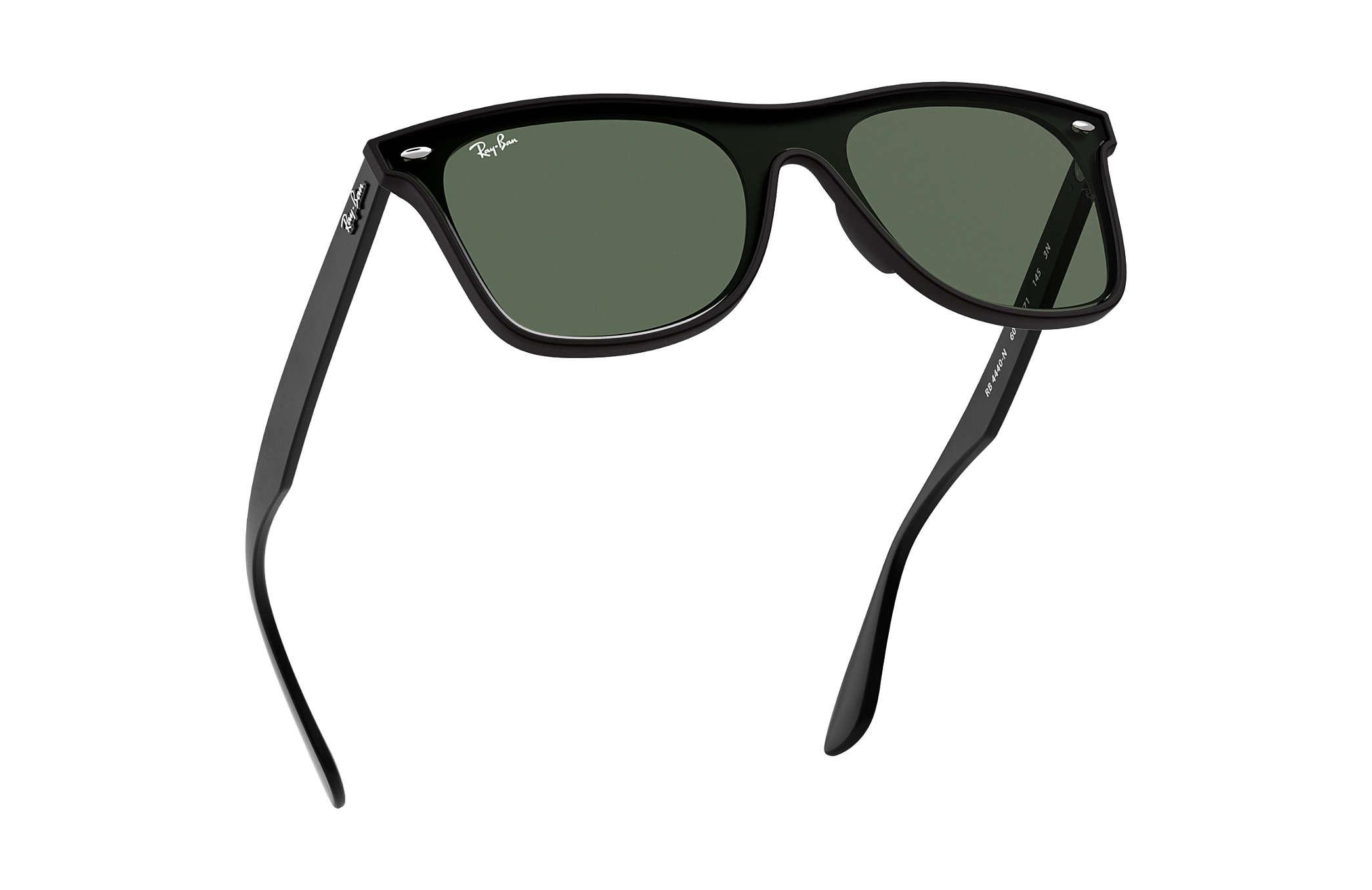 762206696b6 Ray-Ban Blaze Wayfarer RB4440N Black - Nylon - Green Lenses ...