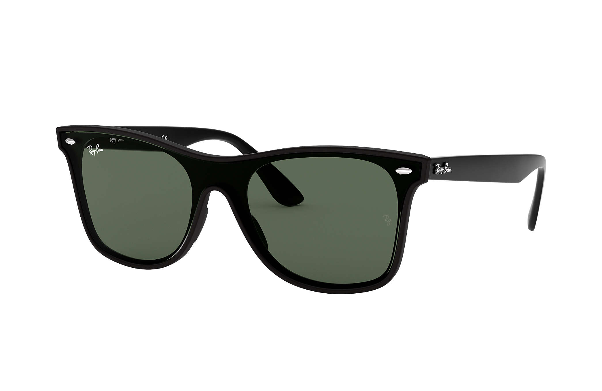 68a2ef27370 Ray-Ban Blaze Wayfarer RB4440N Black - Nylon - Green Lenses ...