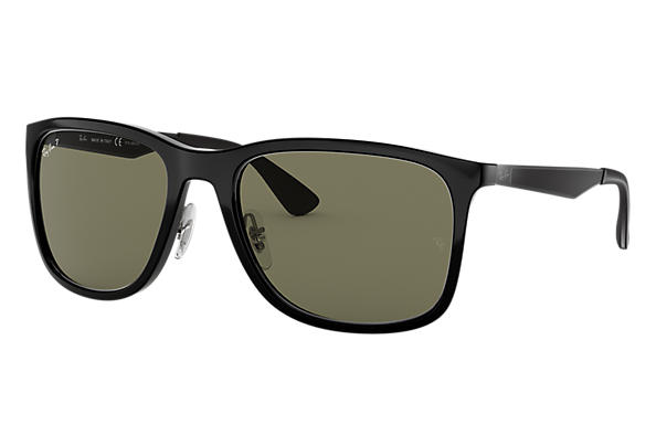 33ca30fe38 Ray-Ban RB4313 Black - Nylon - Green Polarized Lenses - 0RB4313601 ...