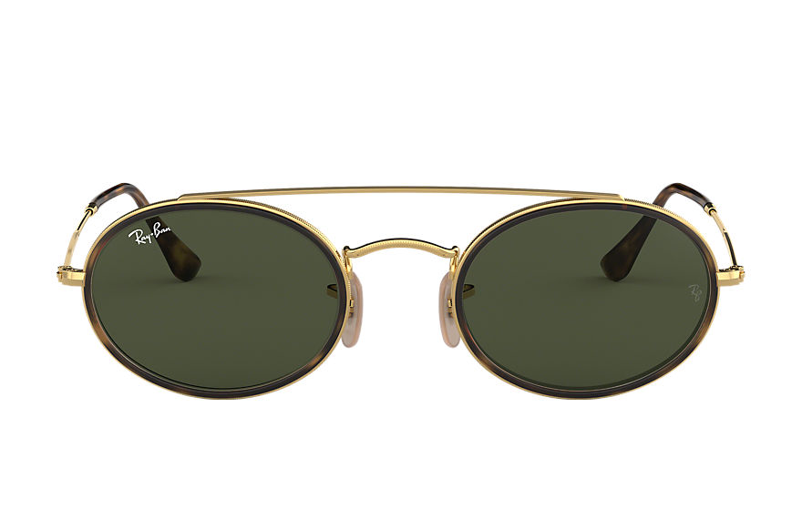 Ray-Ban  sunglasses RB3847N UNISEX 005 oval double bridge gold 8053672970111