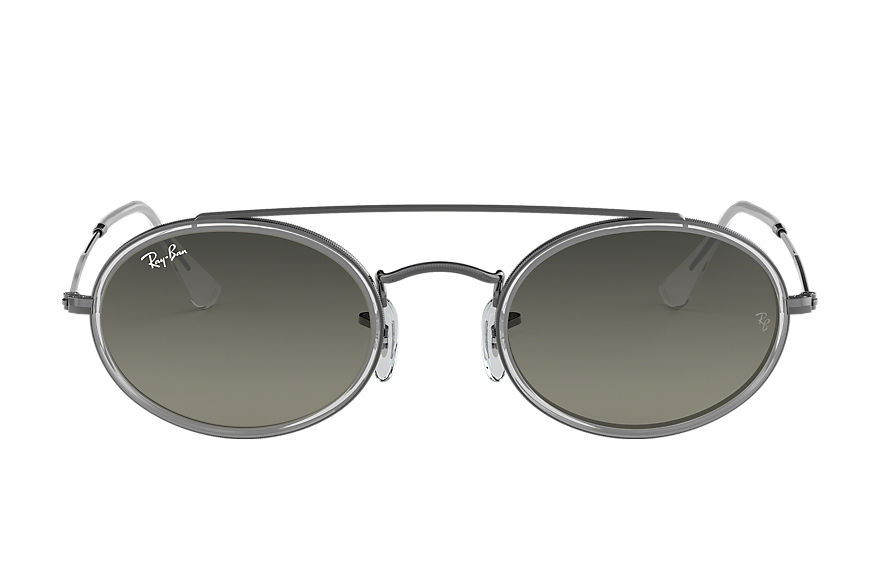 Ray-Ban  sunglasses RB3847N UNISEX 008 oval double bridge gunmetal 8053672970128